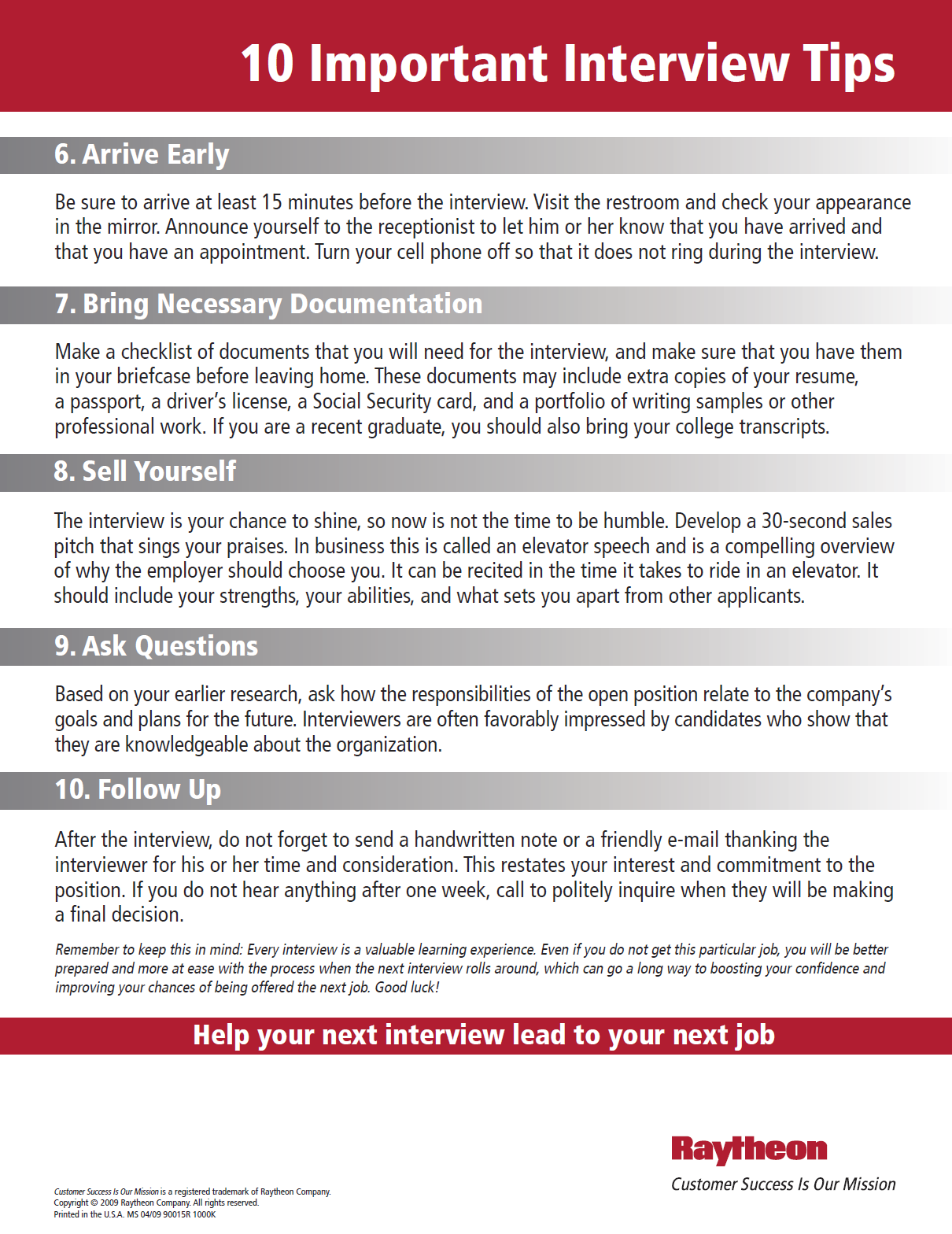 10 important interview tips raytheon fort worth dallas area 10 important interview tips 2 raytheon