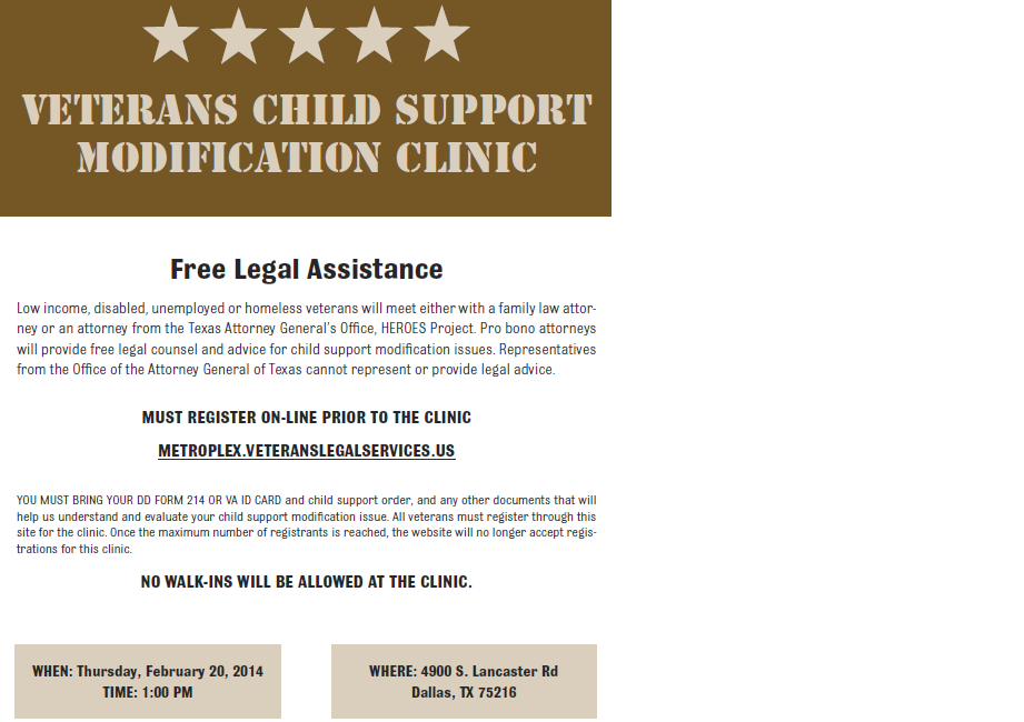Child Support Modification Clinic